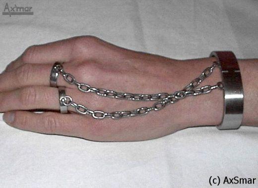 Armreif mit verbundenen Ringen