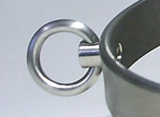 Drehbarer Titan Ring für Halsreifen