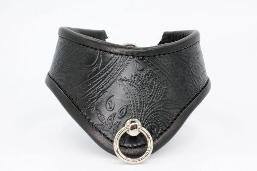 Halsband der O mit Paisley Prägung