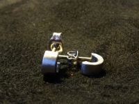 Ohrringe/Paar kleinste Creole aus Edelstahl